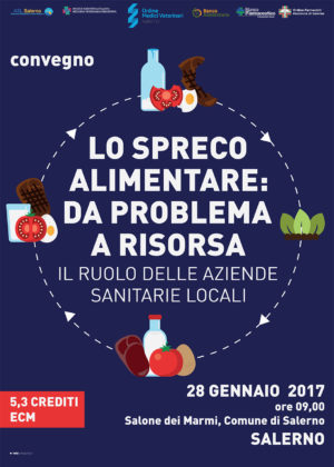 """""""Lo spreco alimentare: da problema a risorsa"""", sabato 28 gennaio convegno al Comune di Salerno"""