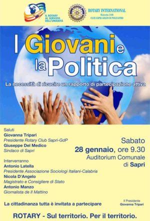 """Sapri. Il Rotary e """"I Giovani e la Politica"""""""