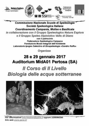 """Corso di formazione """"Biologia delle acque sotterranee"""" alle Grotte di Pertosa – Auletta"""